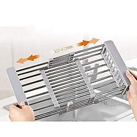 Retractable sink water filter/drain basket/stainless steel kitchen washing basket/kitchen sink sink/leak basket/dish drain XUMINGLSJ