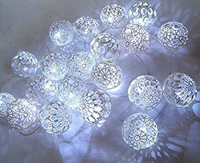 Fairy lights,String lights, Christmas lights, bedroom decor lighting, Christmas decor Wedding decor, Party lights, 10 crocheted balls