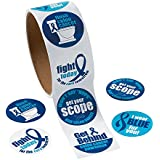 Colon Cancer Awareness Roll Stickers