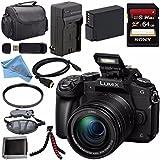 Panasonic Lumix DMC-G85 DMC-G85MK Mirrorless Camera with 12-60mm Lens + DMW-BLC12 Battery + Charger + 64GB SDXC Card + HDMI Cable + Carrying Case + Memory Card Wallet + Flexible Tripod Bundle