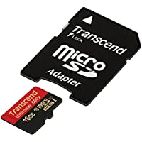 Transcend 16 GB MicroSDHC Class 10 UHS-I Memory card with Adapter 90 Mb/s (TS16GUSDHC10U1)