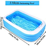 SUNNY Family Kids Inflatable Swimming Pool,Small PVC Thickened Abrasion Resistant Inflatable Pool Family Interaction Summer Water Party Swimming Pool for Kids Swimming Pools for Garden/Backyard (110* 88 * 33 cm)