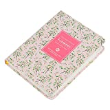 Daily Planner Calendar Schedule Organizer and Journal Notebook,Non Dated Day, (Pink Cherry Blossom)