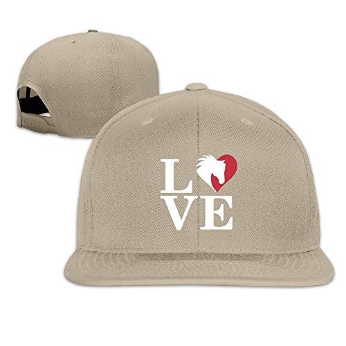 MaNeg We Love Horse Unisex Fashion Cool Adjustable Snapback Baseball Cap Hat One Size