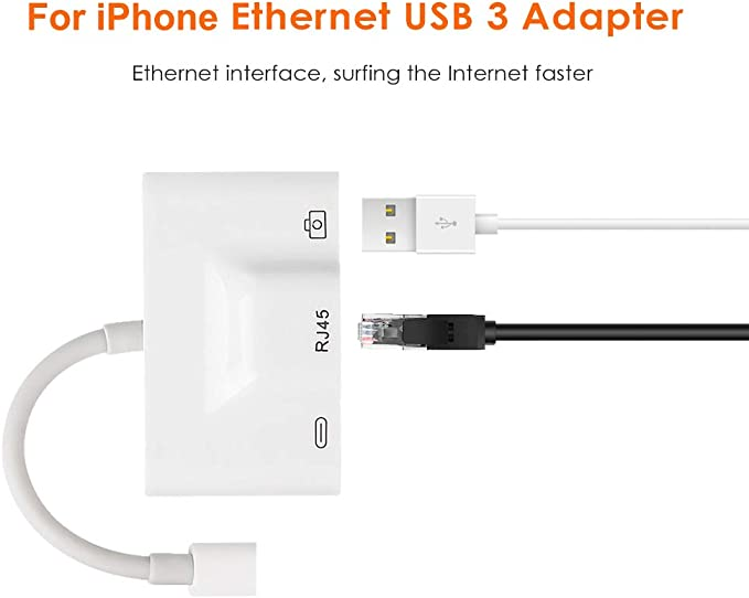 XZANTE Adaptador de Red Cableado LAN Ethernet RJ45 Compacto para ...