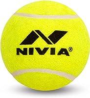 Nivia Hard Tennis Ball for Baseball/Cricket and Tennis, Yellow