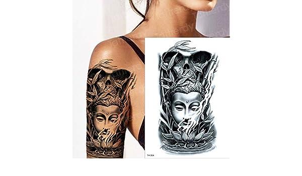 tzxdbh Tatuaje Temporal Mangas del Brazo Chino Buda Loto Asiento ...