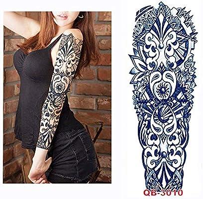 tzxdbh 3Pcs-Fox y Conejo Brazo de Flores Completo Tatuaje ...