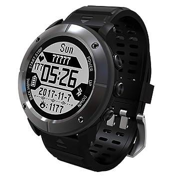 MRXUE Relojes Inteligentes para iOS Smartphone Android (Senderismo/Running/maratón/montañismo/. 7 Modos de los Deportes), Beidou + GPS + GLONASS,Gray: ...