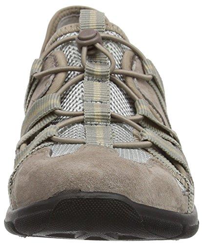 Romika Donna In Viaggio 01 Nubuck Slip On Trainer Shoe (17201) Taupe