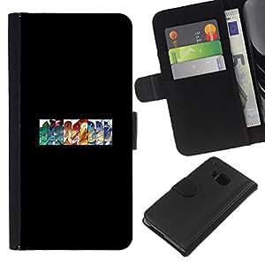 Stuss Case / Funda Carcasa PU de Cuero - Pokémons - HTC One M7