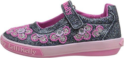 Kelly Navy Glitter Kids Flats Shoes Lk1101 Girls Jane Fashion Mary Lelli OR7TT