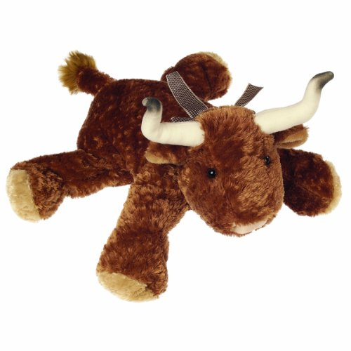 Mary Meyer Flip Flop Stuffed Animal Soft Toy, Bubba Longhorn, 12-Inches (Animal Stuffed Longhorns)