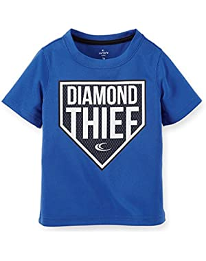 Baby Boys' Diamond Thief Athletic Blue Tee (24-Months)