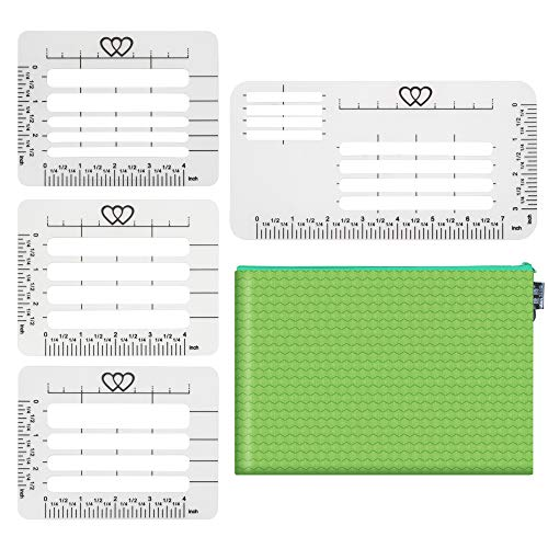 4 Style Envelope Addressing Guide Stencil Templates with 1 Storage Bag, Total 5 Pieces, Making Thank You Card, Festival Cards, Wedding Invitations ()