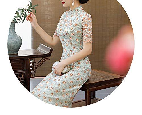 所属オーディション毎週チャイナドレスレトロなカラースタイルのドレス,8617,XXL