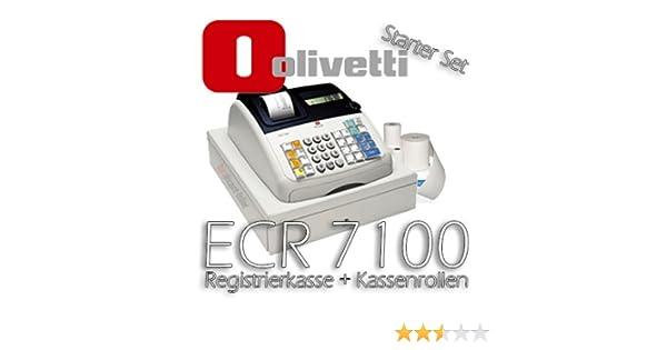 Olivetti ECR 7100 Caja registradora [Set para el Venta por menor] Incl. 5 Rollo caja registradora: Amazon.es: Electrónica
