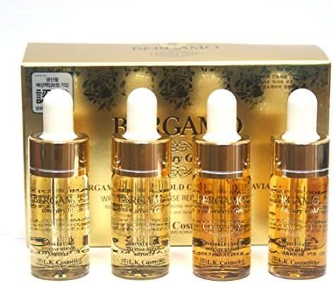 Bergamo / Luxury Gold Collagen & Caviar Wrinkle Care Repair Ampoule Set 13ml 4ea /Korean Cosmetics