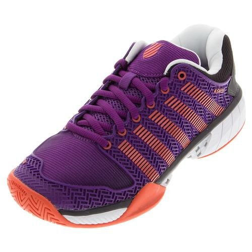 K-swiss Womens Hypercourt Express-w Scarpa Da Tennis Viola Magia / Hot Orange / Jet Black