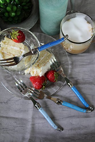 French Home LG092 Dessert Forks (Set of 4), Shades of Blue by French Home (Image #3)