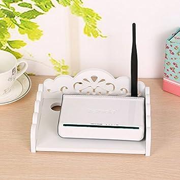 Amazing WiFi Router Da Scaffale Router Modem Storage Box Router Rack Mount Kit  Staffa, Legno, White, Small: Amazon.it: Casa E Cucina