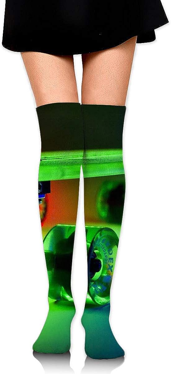 High Elasticity Girl Cotton Knee High Socks Uniform Lightning Skateboards Women Tube Socks