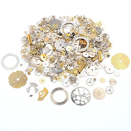 (surepromise 50g Steampunk Watch Parts Jewellery Altered Crafts Art Cyberpunk Cogs Gears)