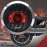 Gravity Warzone Series 6.5'' inch Pro Midrange Coaxial Loud Speaker 4-Ohms with 600W Max, 1 Speaker WZP65