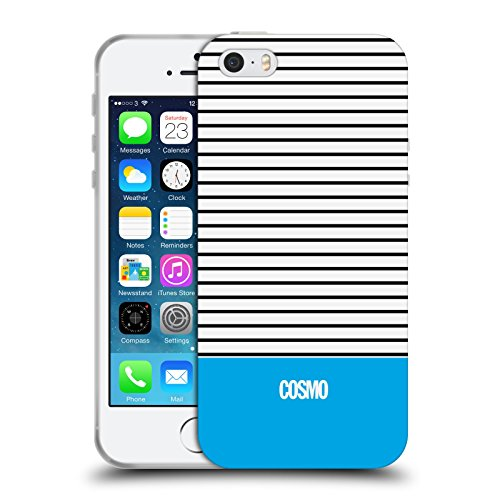 Official Cosmopolitan Sky Blue 1 Stripes Collection Soft Gel Case for Apple iPhone 5 / 5s / SE