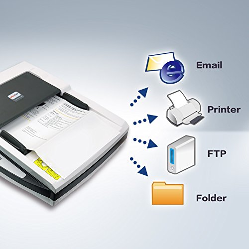 Plustek PL4080 High Speed Versatile + one. Document Feeder and A4 Size Flatbed Design Suit for Multi Folded documents.