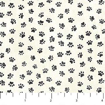 You Had me at Meow~Paw Prints Cotton Fabric by Northcott]()