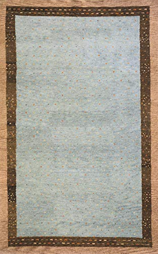 Momeni Rugs DEGABDG-01SLT2680 Desert Gabbeh Collection, 100% Wool Hand Knotted Contemporary Area Rug, 2'6