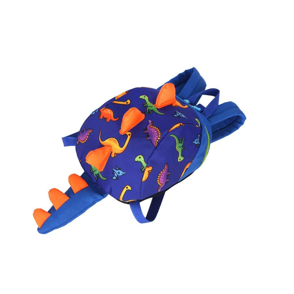 con arn/és de seguridad y cuerda antip/érdida para ni/ños y ni/ñas azul oscuro Mochila para ni/ños con dise/ño de dinosaurio