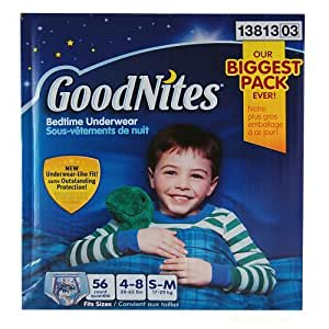 Goodnites Boys Underwear 56 Count, Small/medium