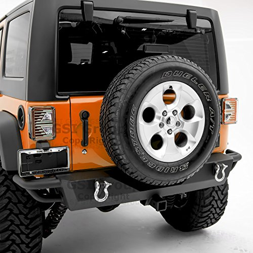 GSI Rear Bumper With Two 4.75 Ton With D-Rings and 2