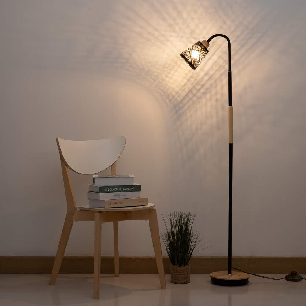Senza Lampadina Ufficio Bianco Shinoske Lampada da Terra Moderna con Collo doca Flessibile per Soggiorno Camera da Letto