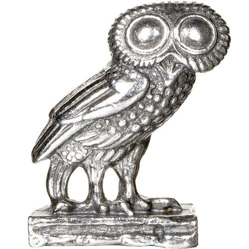 - Greek Owl Miniature Metal Figurine
