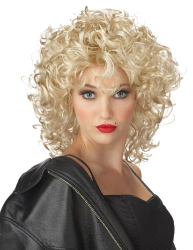 California Costumes Women's The Bad Girl Wig, Blonde, One Size (Curly Blonde Costume Wig)