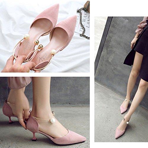 Sunny Faible B Femmes Bureau Chaussures Milieu vous Rendez Haut Dames Talon Travailler rErq1Ox