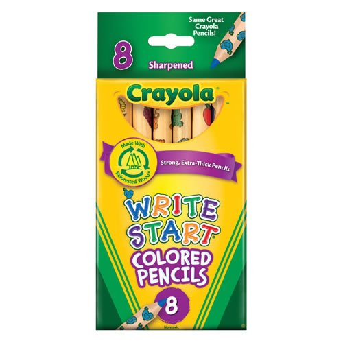 Crayola 8-Pack Write Start Colored Pencils Classpack