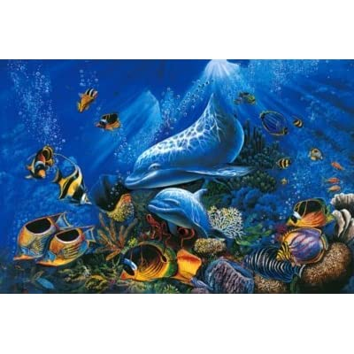 Tomax Miracle of Life 1000 Piece Glow-in-the-dark Dolphin Jigsaw Puzzle: Toys & Games