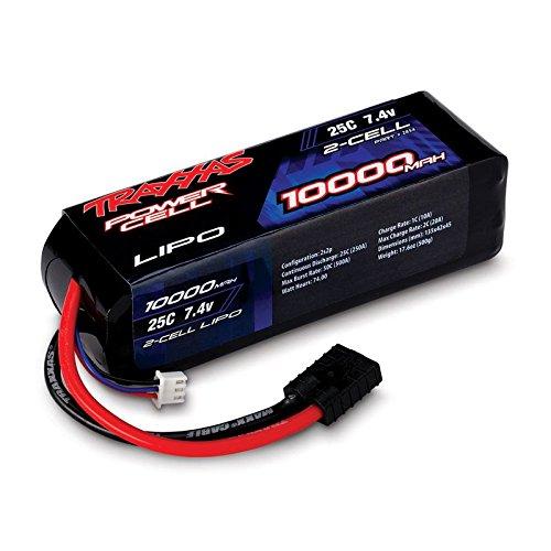 7.4V 10000mAh 25C 2S LiPo Battery with TRA ID