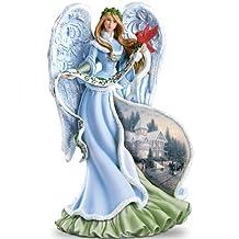 Thomas Kinkade Holly Angel Figurine by The Bradford Exchange
