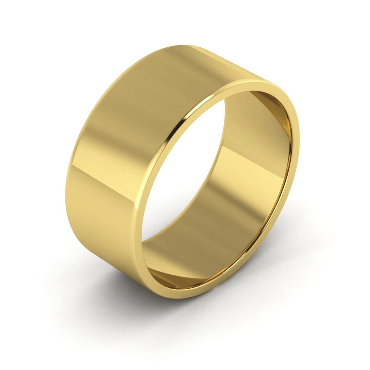 10k Gold Mens Wedding Band