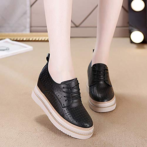 Thick High Breathable Flat KPHY Forty Shoes Single Shoes Shoes Bottom Leather Black Leisure Bottom qUYZwTzZx
