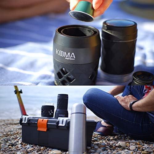 Machine à café expresso, pour capsules de café compatible NS et moulues, 19 barres de pression manuelles, idéales pour les sorties en plein air, le camping ou le travail