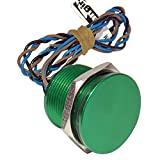 Generic 19mm Aluminum Green Latching Piezo Switch