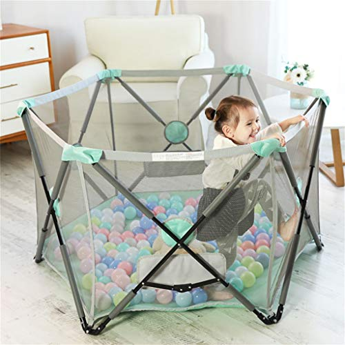 Playpen Tent Baby Safety Gate Portable & Travel Kids Ball Pit Playpen Ball Pool,Indoor and Outdoor Easy Folding Play House Play Space for Children Baby (Excluding The Ball) by CGF- Baby Playpen (Image #6)