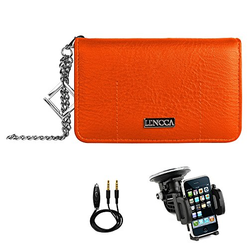orange-tan-eco-friendly-leather-purse-equipped-with-pouch-zippered-pocket-wrist-chain-lencca-wallet-