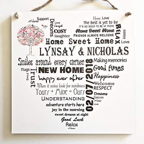 MissyJulia Ltd Wooden Plaque New Home Gift Housewarming Personalised Gift W142